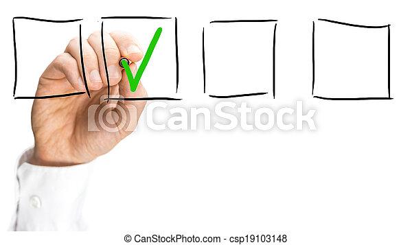 boîte, virtuel, coutil, interface, chèque, homme - csp19103148