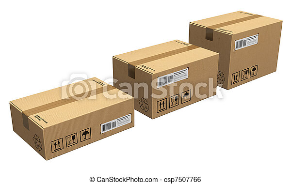 boîtes carton, ensemble - csp7507766