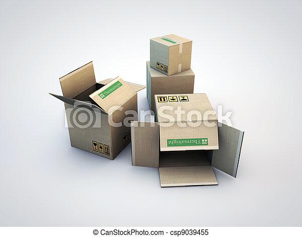 boîtes carton - csp9039455