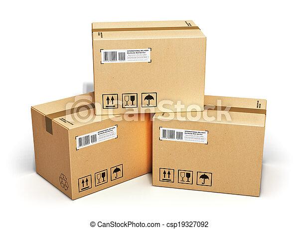 boîtes, carton - csp19327092