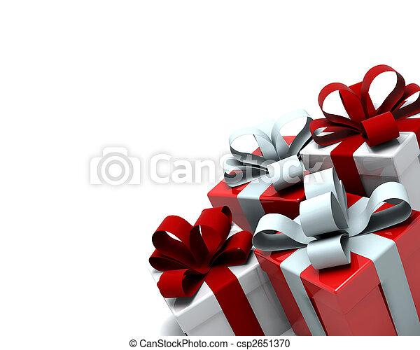 boîtes, noël don - csp2651370