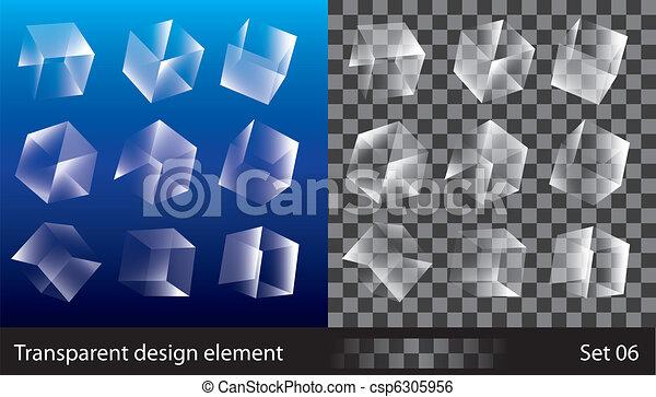 boîtes, transparent - csp6305956