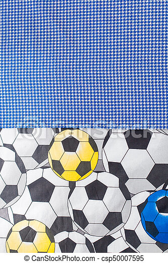 a3fdb3721 Bo-ho fashion styled fabric soccer ball print on textile half screen ...