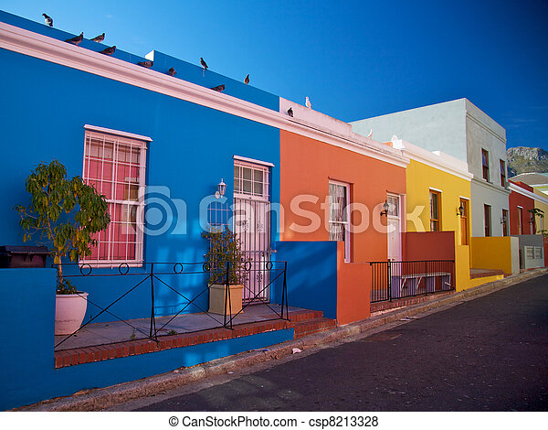 Bo-Kaap District, Cape Town, South Africa - csp8213328