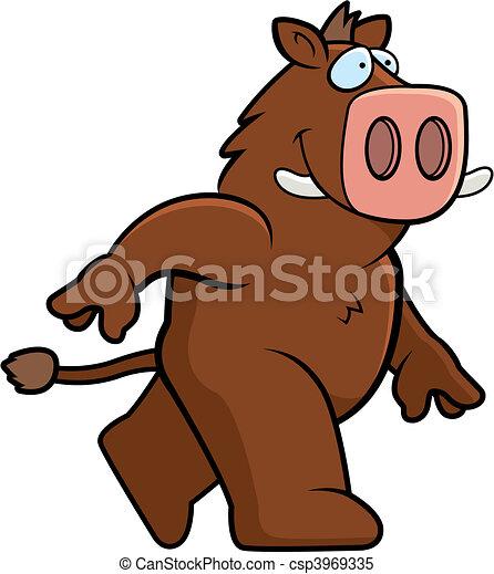 Boar Walking - csp3969335