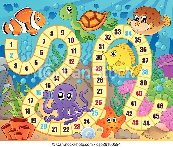Board game image with underwater theme 1 - csp26100594