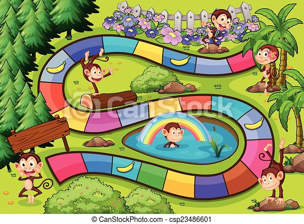 board game with the monkey theme rh canstockphoto com clue board game clipart board game clipart free