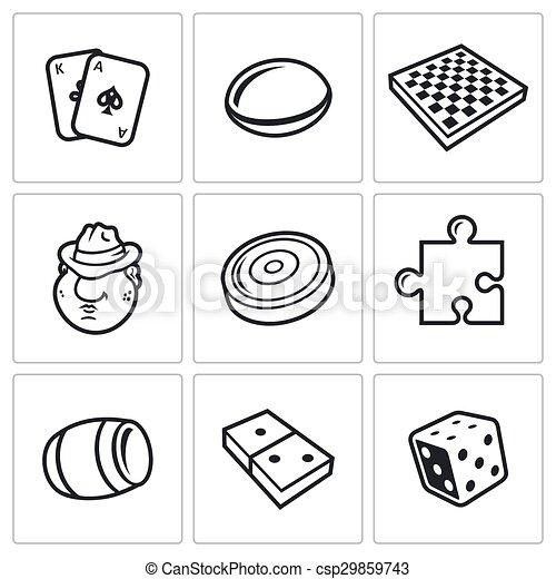 Board games vector icon - csp29859743