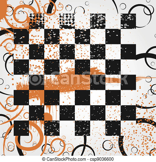 Board in the grunge style - csp9036600