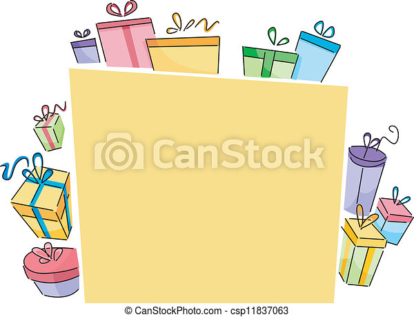 Board with Gift Boxes - csp11837063