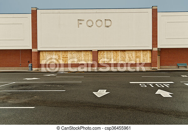Boarded Up Out Of Business Store - csp36455961