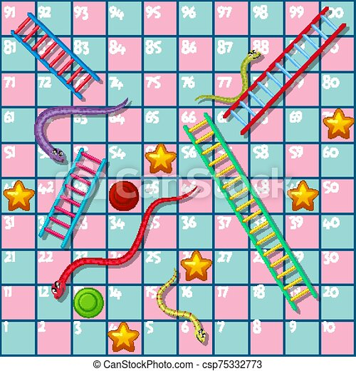 Premium Vector   Snake and ladder boardgame is fun for kid