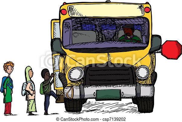 Boarding A Bus - csp7139202