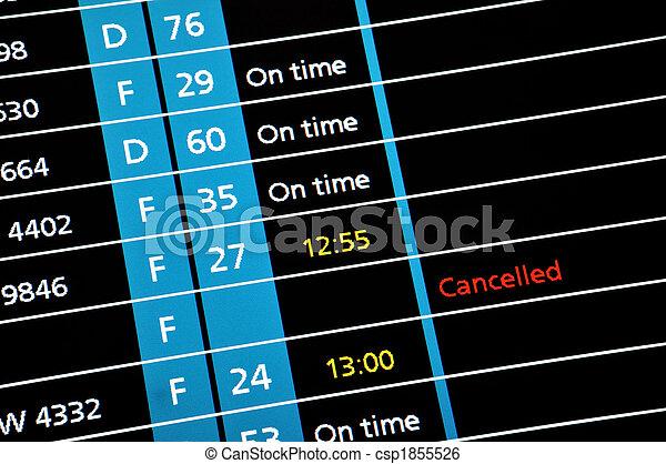 Boarding display 2 - csp1855526
