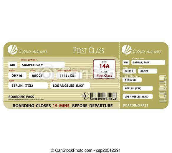 Boarding Pass First Class - csp20512291