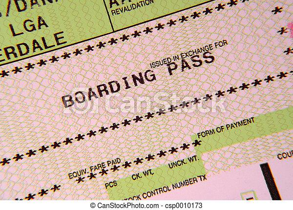 Boarding Pass - csp0010173