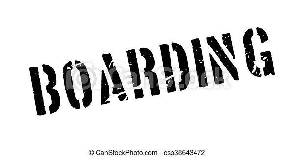 Boarding rubber stamp - csp38643472