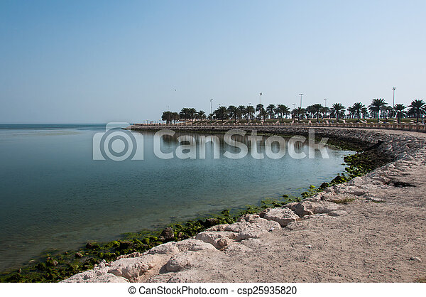 Boardwalk in Al Khobar, Saudi Arabia - csp25935820