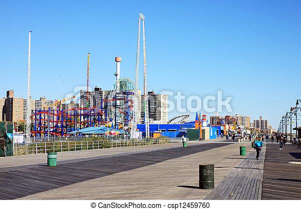 Boardwalk in Coney Island - csp12459760