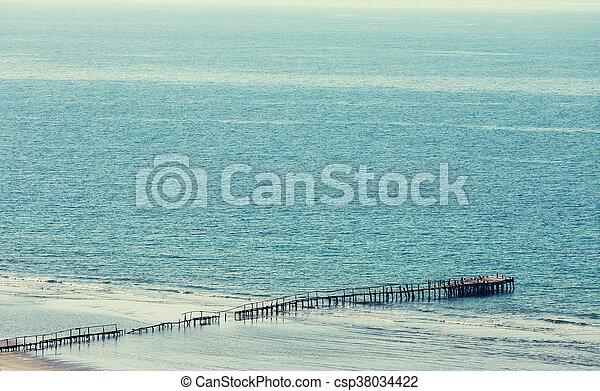Boardwalk on the beach - csp38034422