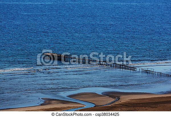 Boardwalk on the beach - csp38034425