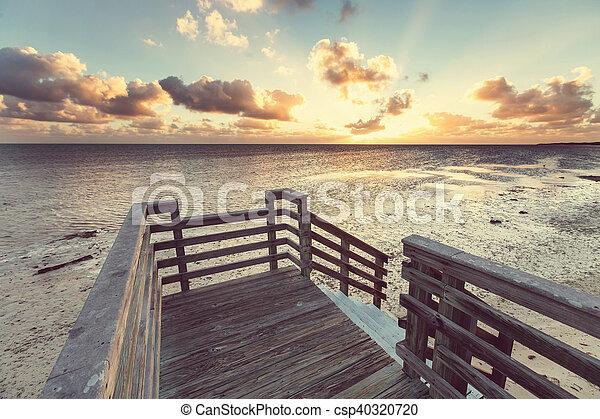 Boardwalk on the beach - csp40320720