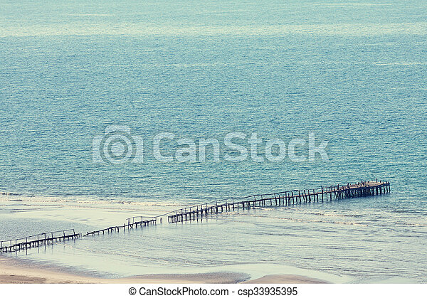 Boardwalk on the beach - csp33935395