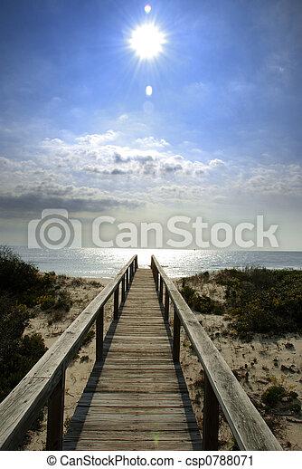 boardwalk, solskin - csp0788071