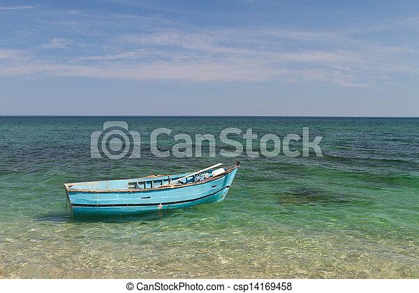 Boat at Sea - csp14169458
