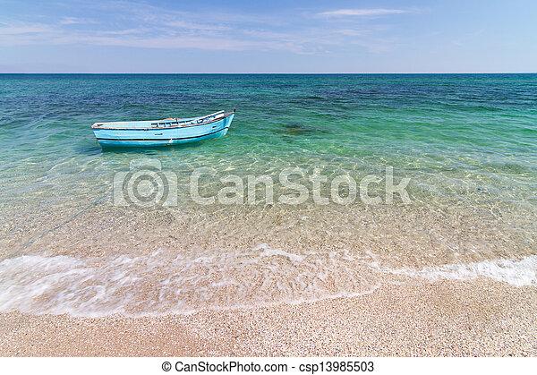 Boat at Sea - csp13985503