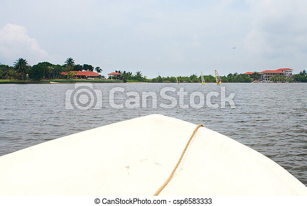 Boat Bow on tropical river - csp6583333