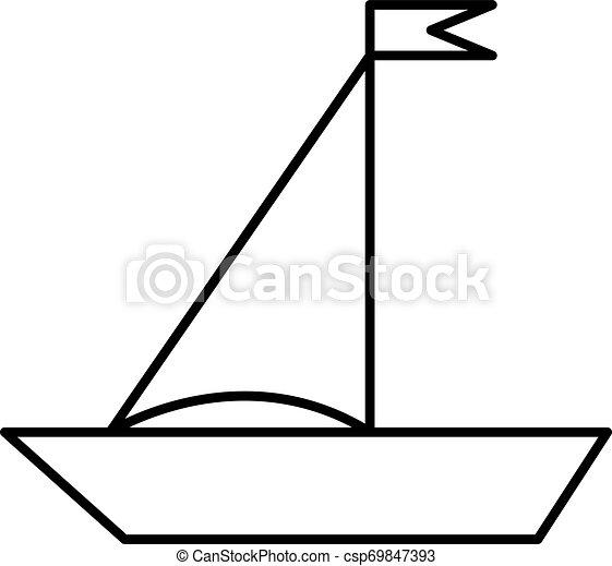 Boat flat illustration on white - csp69847393