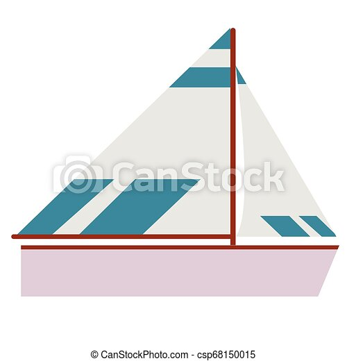Boat flat illustration - csp68150015