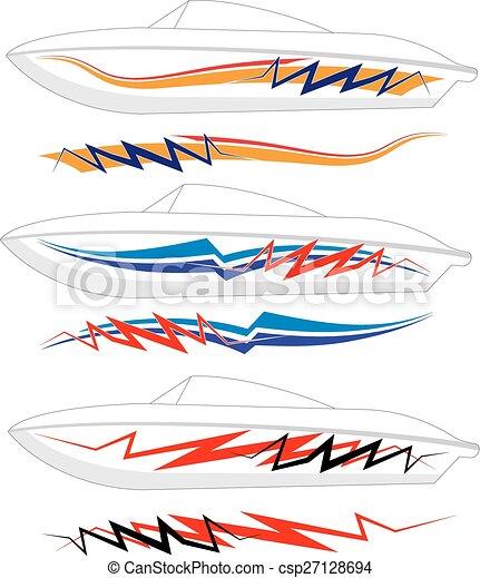 Boat Graphics, Stripe : Vinyl Ready - csp27128694