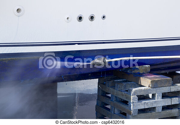 Boat hull cleaning water pressure washer - csp6432016
