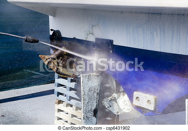 Boat hull cleaning water pressure washer - csp6431902