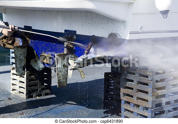 Boat hull cleaning water pressure washer - csp6431890