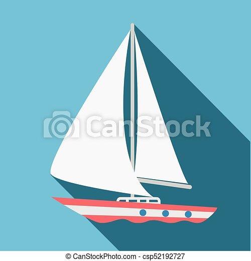 Boat icon. Flat design. Vector illustration. - csp52192727