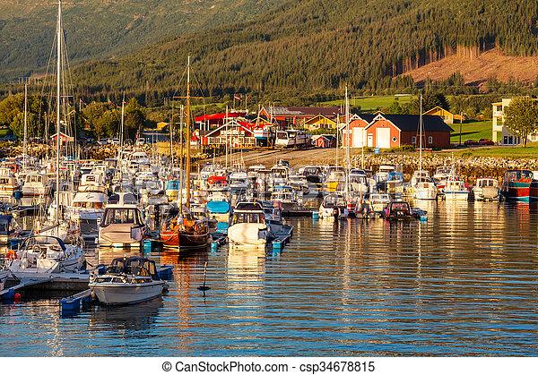 Boat in Norway - csp34678815
