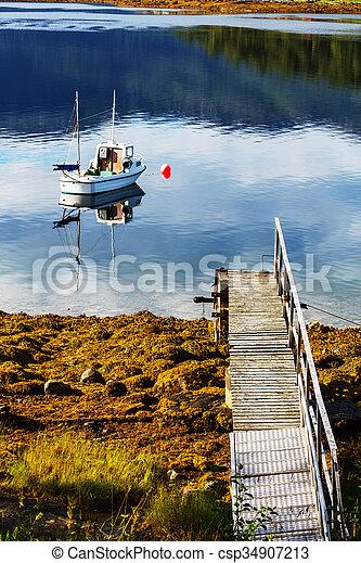 Boat in Norway - csp34907213