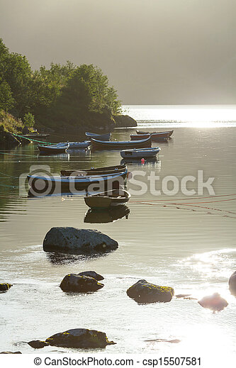 Boat in Norway - csp15507581