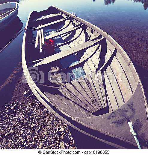 Boat in Norway - csp18198855