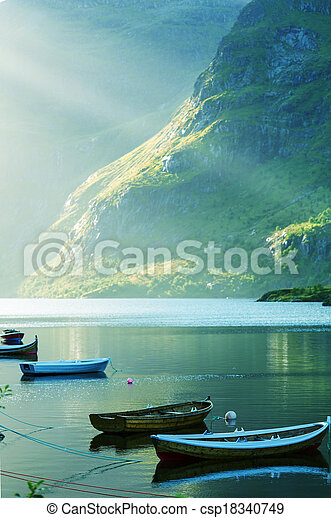 Boat in Norway - csp18340749
