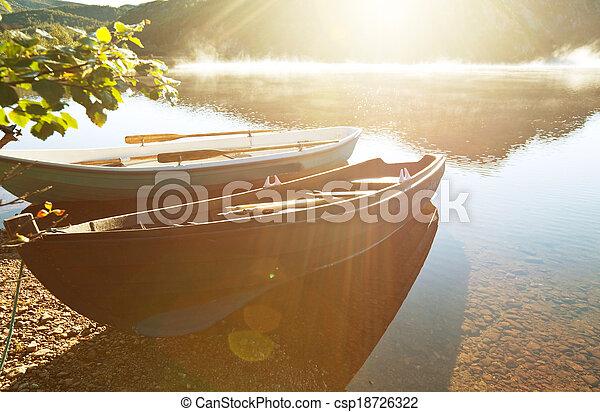 Boat in Norway - csp18726322