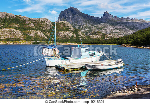 Boat in Norway - csp19216321
