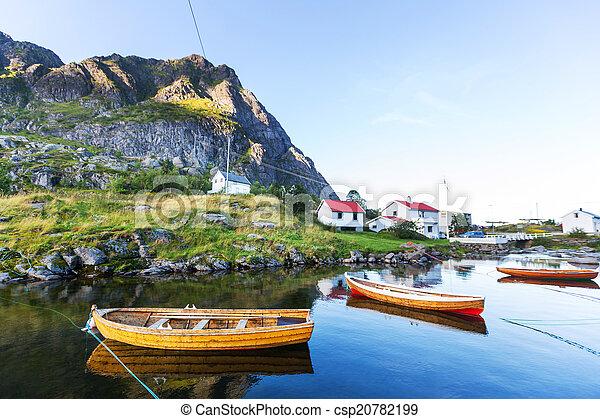 Boat in Norway - csp20782199