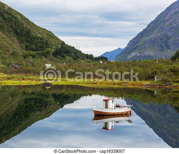 Boat in Norway - csp16339007