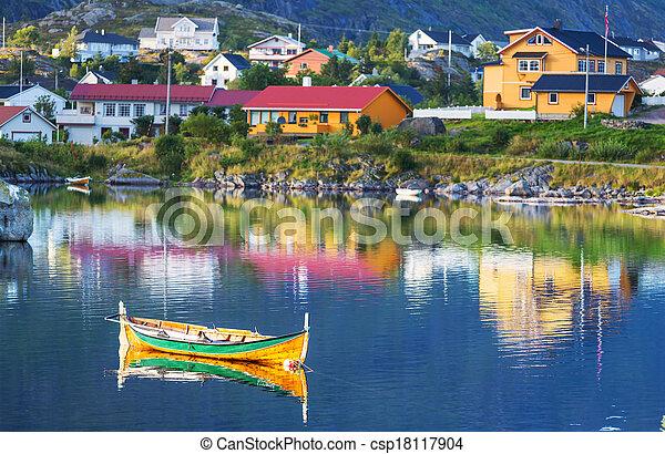 Boat in Norway - csp18117904