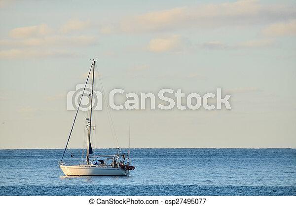 Boat in the Ocean - csp27495077
