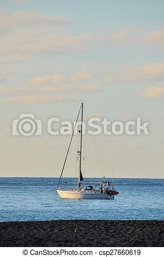 Boat in the Ocean - csp27660619
